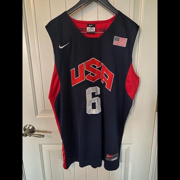 Nike Lebron James USA Olympic Jersey